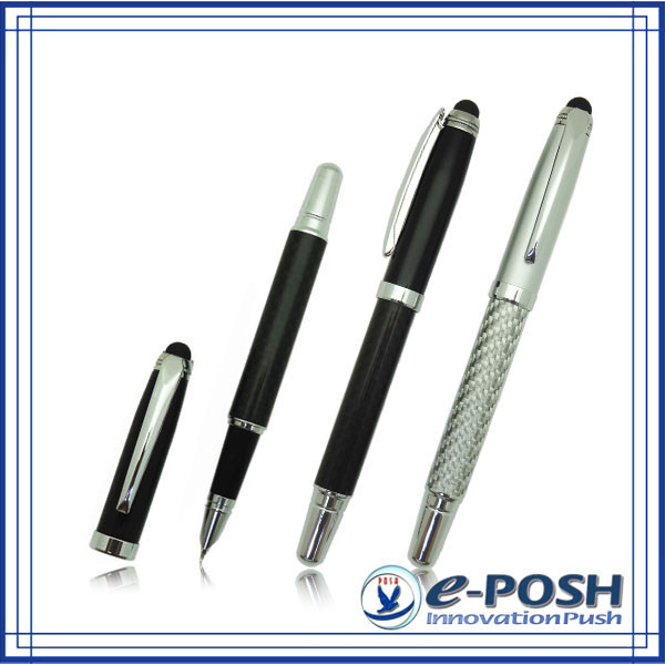 Novelty carbon fiber material high-end stylus business gift fountain pen