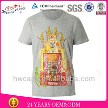 Over-sized t-shirt wholesale gray men t-shirt with collar for men t-shirt manufacturer in china