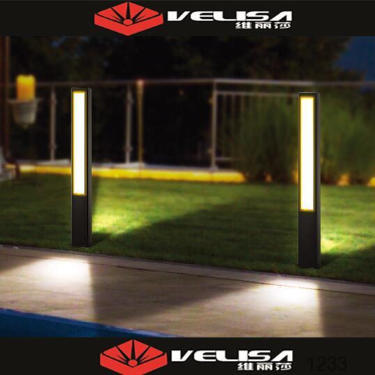 Iluminaci n del jard n exterior con poste de luz luces de for Jardin de luz