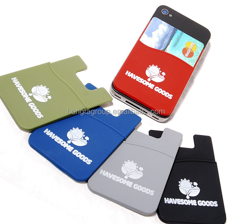 Silicone Card Holder 3m 300lse Sticker Pouch For Iphone,3m Adhesive ...