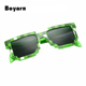 2017 Hot Kids Sunglasses Mosaics Games Style Sunglasses 4-13 Years Square Children Sun Glasses Boys Girls Pixel Eyewares
