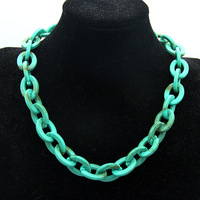 2019 New necklace Unique Design Big Plastic Resin Chain Necklace For Women Fashion Jewelry Matte Bright Color Necklace