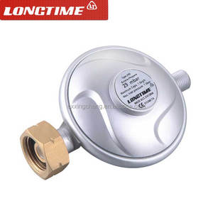 CE approved butane gas regulator with brass inlet 21.8*1.814LH