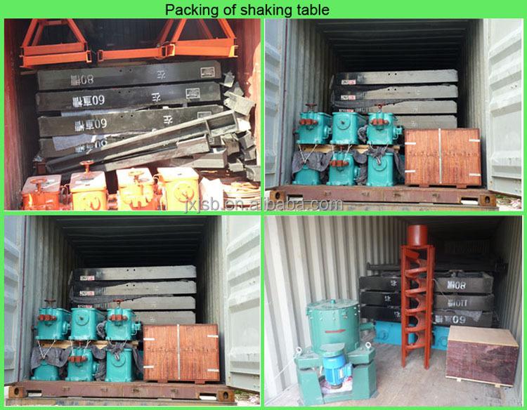 Mining separating equipment shaking table and titanium ore for Table titanium quadra 6