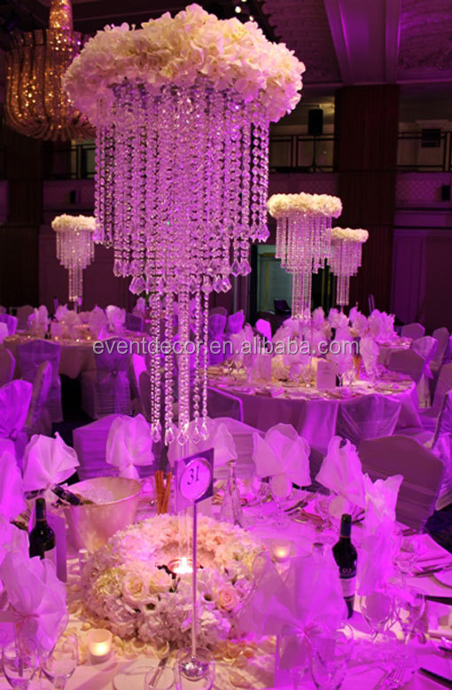 Large Table Top Crystal Chandelier Flower Stands Centerpieces For Weddings Wedding Chandeliers
