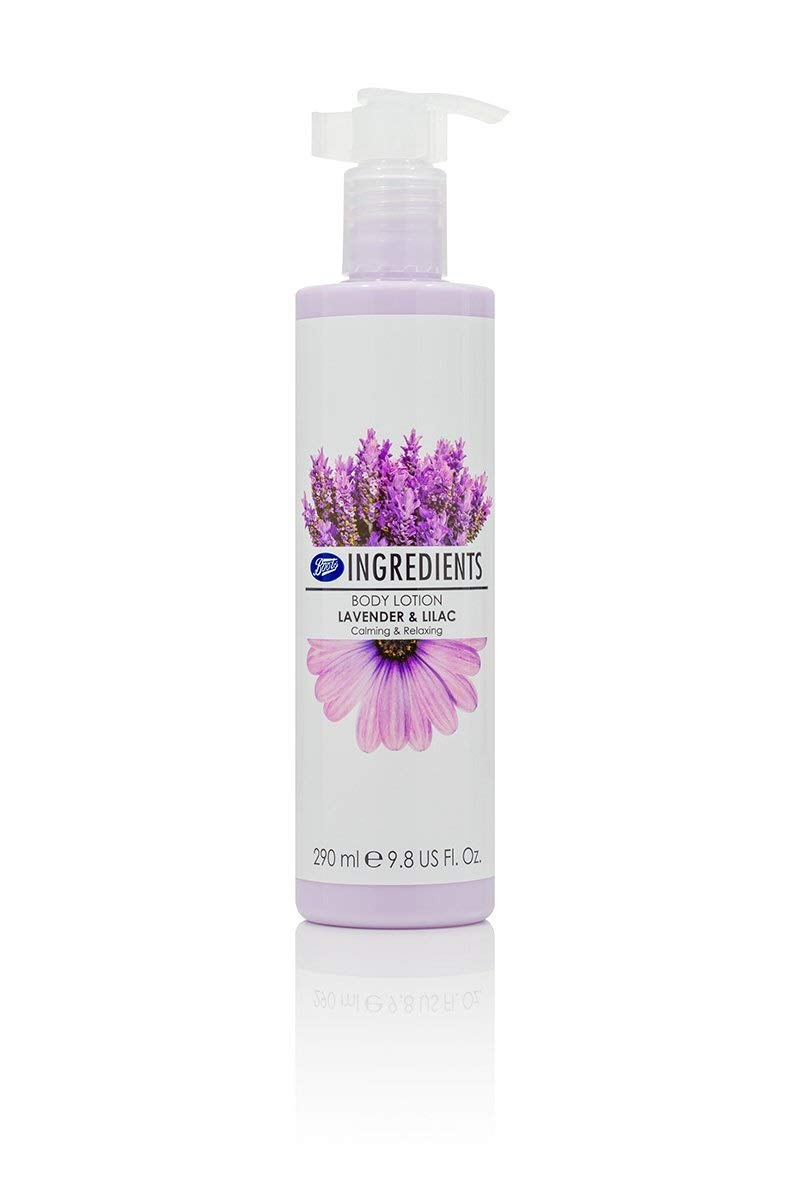 a409cf71527 Get Quotations · Boots Ingredients Body Lotion Lavender   Lilac 290 ml. (2  Pack)
