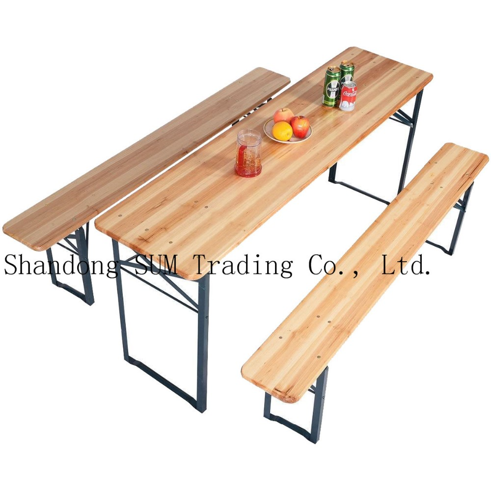 Peachy Wooden Folding Beer Table And Benches Foldable Beer Table Bench Set Buy Wood Dining Table Sets Beer Garden Table And Bench Camping Folding Table And Creativecarmelina Interior Chair Design Creativecarmelinacom