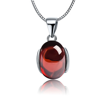 Natural Blood Red Diamond Ruby Stone Pendant 925 Sterling Silver Pendant