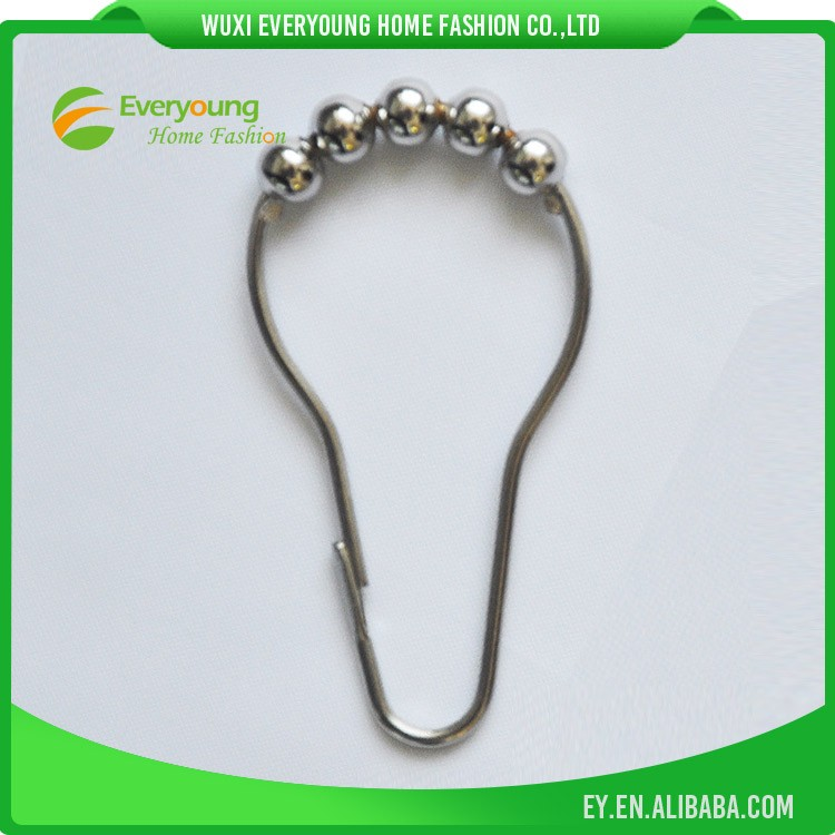 shower curtain hooks/Metal hooks with bead