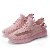 2019 Stylish Fly-knit Fashion Sneakers Women Breathable Mesh Running Shoes Summer Walking Sneakers Casual Sport Shoe