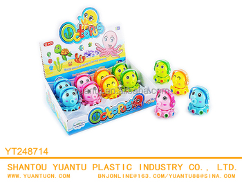 wholesale clockwork plastic cartoon wind up octopus squishy toys