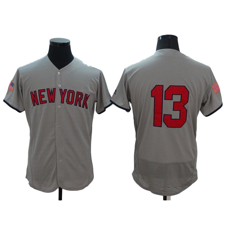 edd55b24e Kaz New York City Club Baseball Team Retro #13 Embroidery Elite Baseball  Jersey