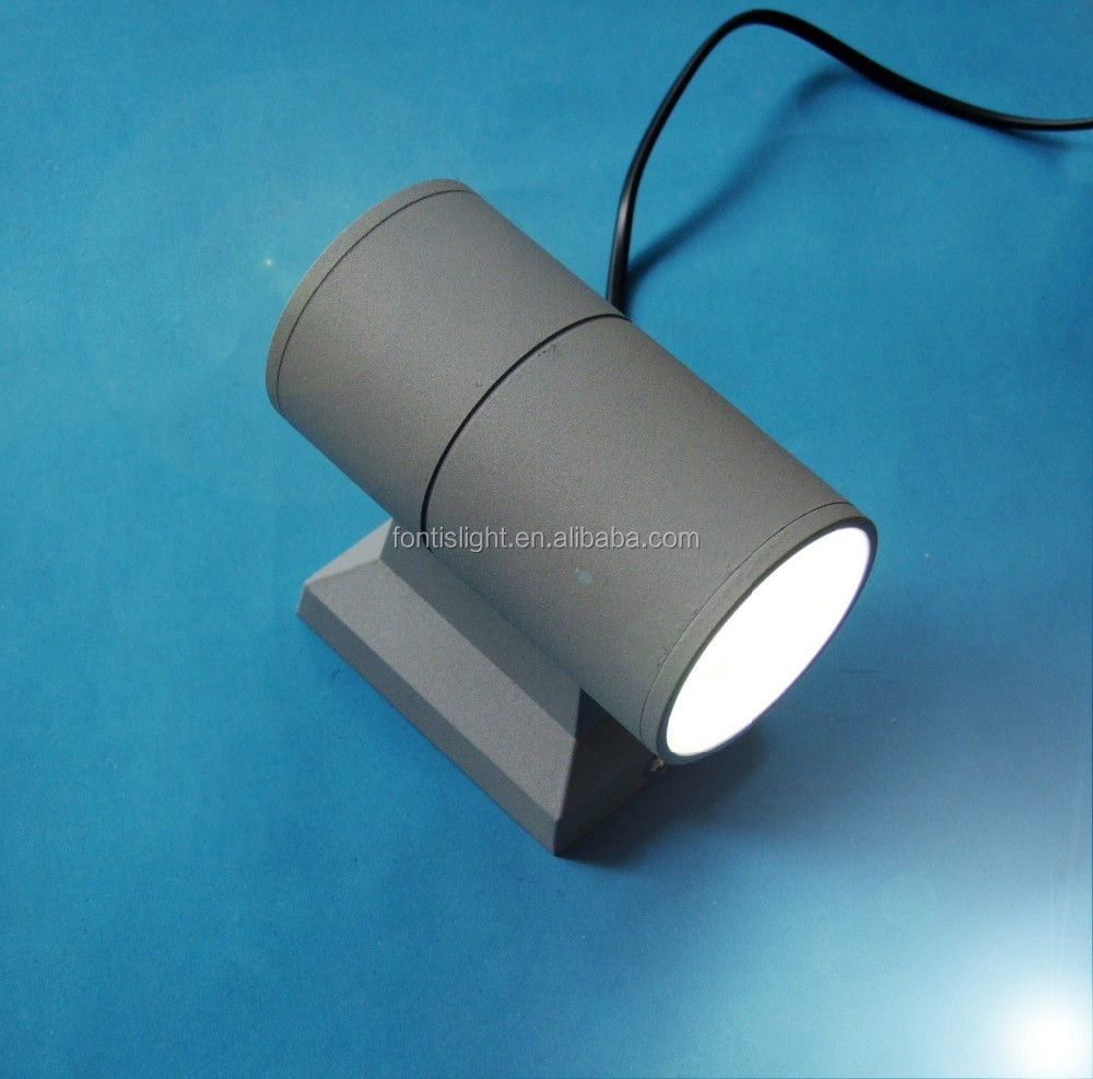 6w led wall lights with Up/Down Lighting Grey/Black Housing/2700k--7000k Ra 80