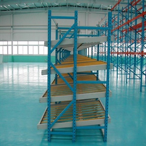 FIFO Warehouse Storage Gravity Carton Flow Rack With Wheels Logistics