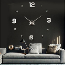 Home decoration!large digital wall clock Modern design,big decorative sticker wall clocks.wall watches,unique gift,W45