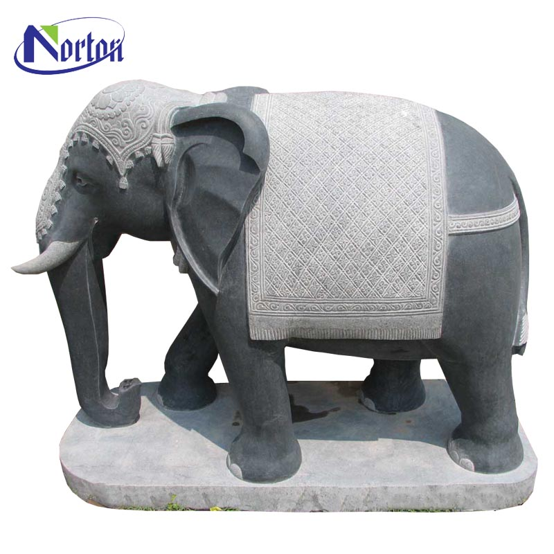 Large size marble stone elephant statue for sale NTBA-022Y