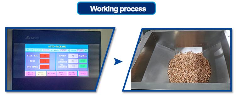 Automatico di cibo congelato per le patate gamberetti piselli macchina imballatrice con il peso di imballaggio