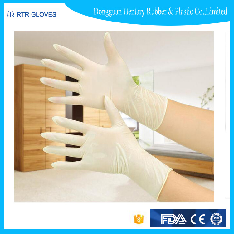 Hot selling disposable medical rubber/latex gloves medical for hospital