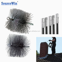 Thread Fitting Sweeping Stainless Steel Handle Poly Round Wire Chimney Brush