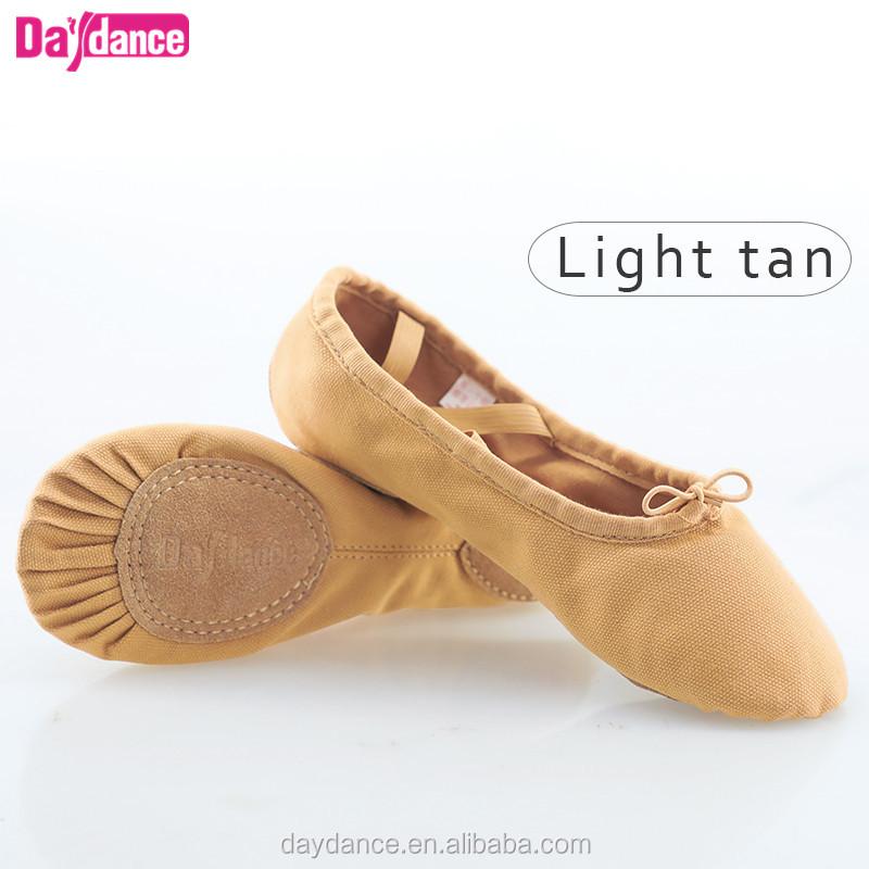 Big Soft Split Sole Canvas Ballet Flats Dance Shoes