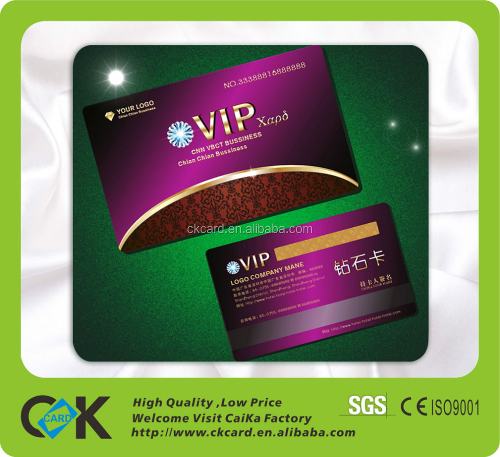 Custom Rfid Vip Sample Membership Card Discount Card For Hotel And