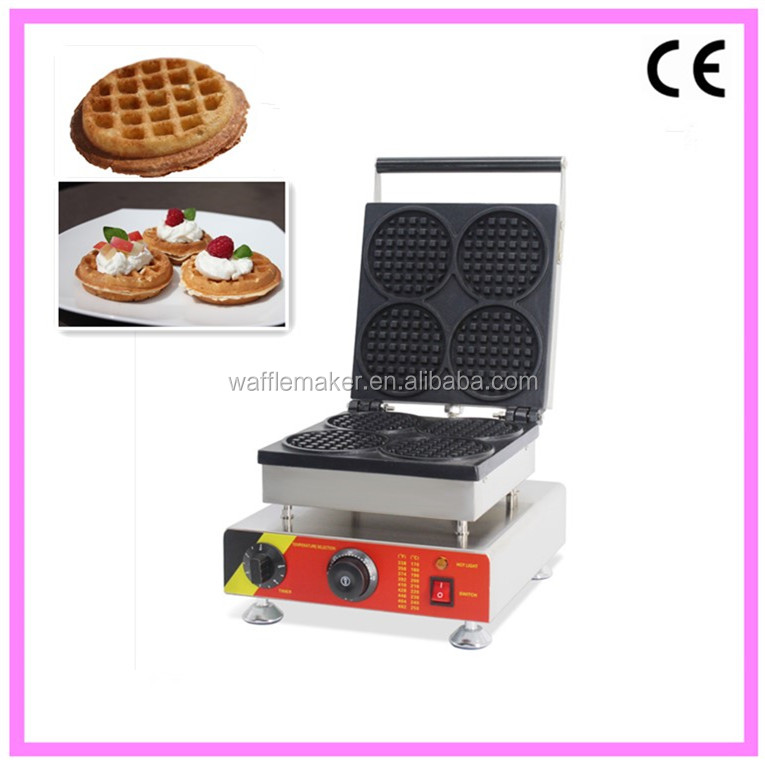 Commercial Electric Automatic NP-504 Round Shape Liege Waffle Maker Machines For Sale
