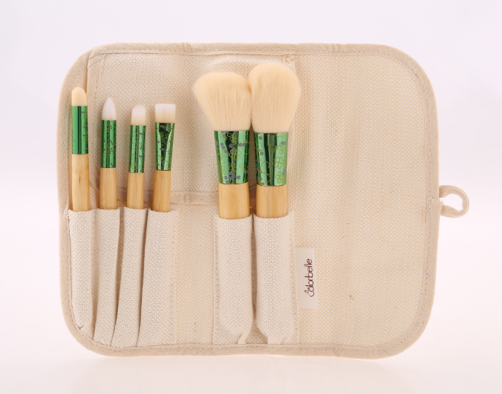 Soft vegan beauty bamboo handle makeup brush cosmetic brush kit