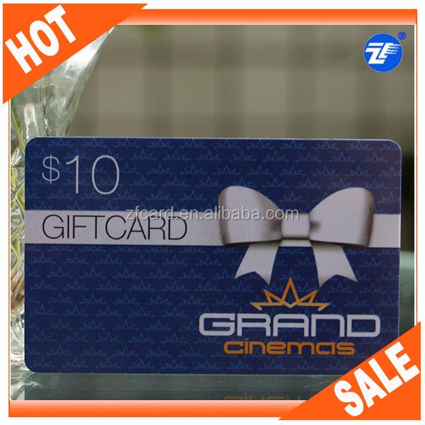 Credit Card Size Plastic Pin Number Scratch Card,Gift Card/