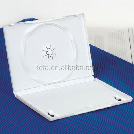 Wedding 14mm Case Single Disk Milky White Color Case Plastic DVD Box
