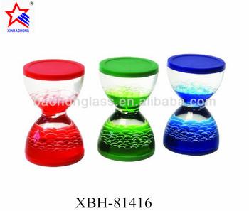 kids handmade color non toxic waterproof toy liquid hourglass timer