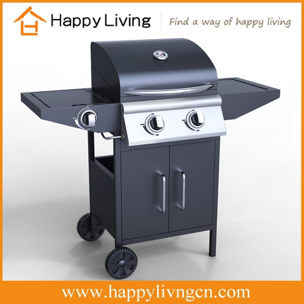 High quality outdoor stainless steel cheap gas barbecue,lpg 2 burners bbq