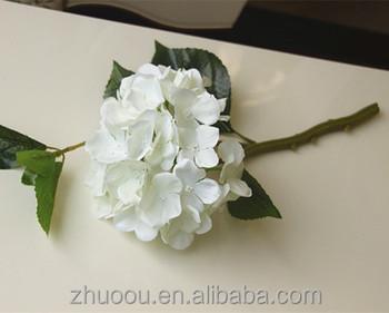 Single Stem Artificial White Hydrangea Flowers Artificial Hydrangea