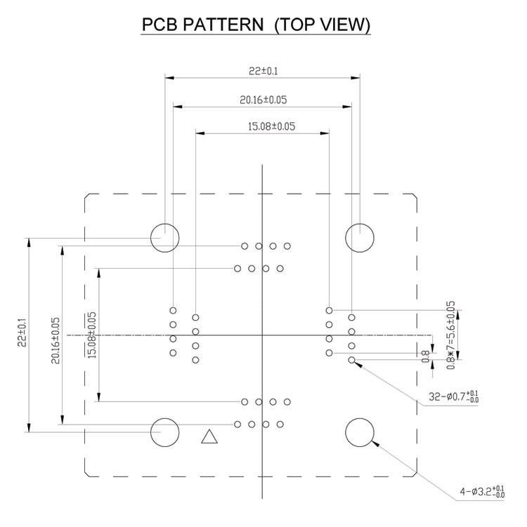 QFP32-0.8-PCB-PATTERN