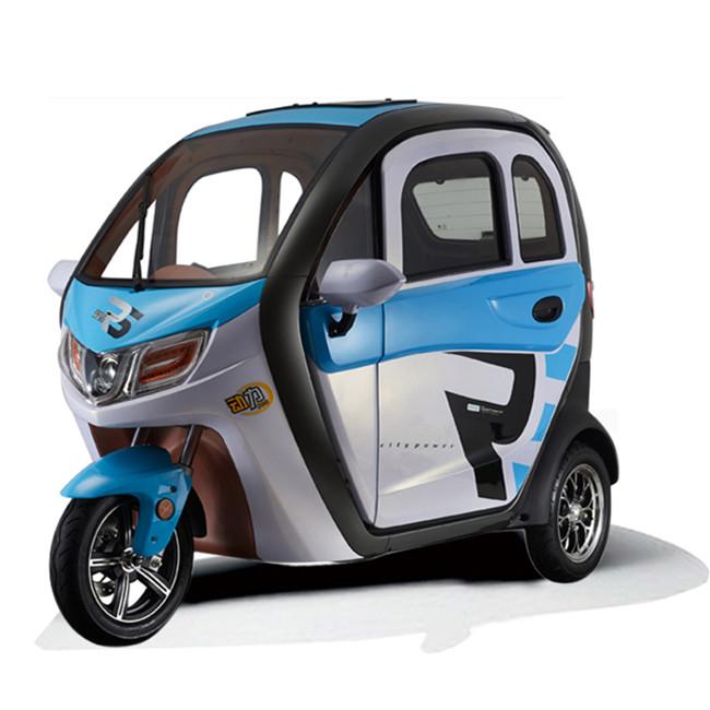 2020 nuevo diseño eléctrico pasajero Triciclo de tipo cerrado triciclo eléctrico