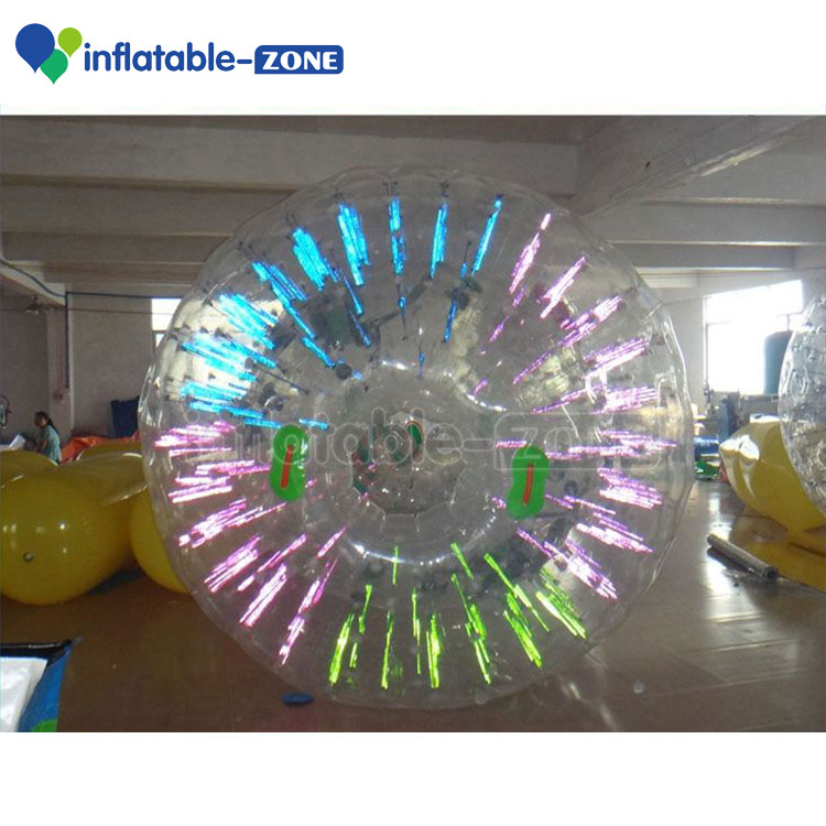 High quality PVC lighting inflatable glow zorb <strong>ball</strong>, free shipping cheap light zorb <strong>balls</strong>
