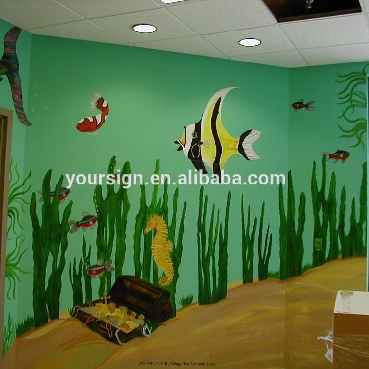 Acuario Murales Y Escena Acuario Impresión Wallpaper Buy Exterior Pared Murales Product On Alibabacom