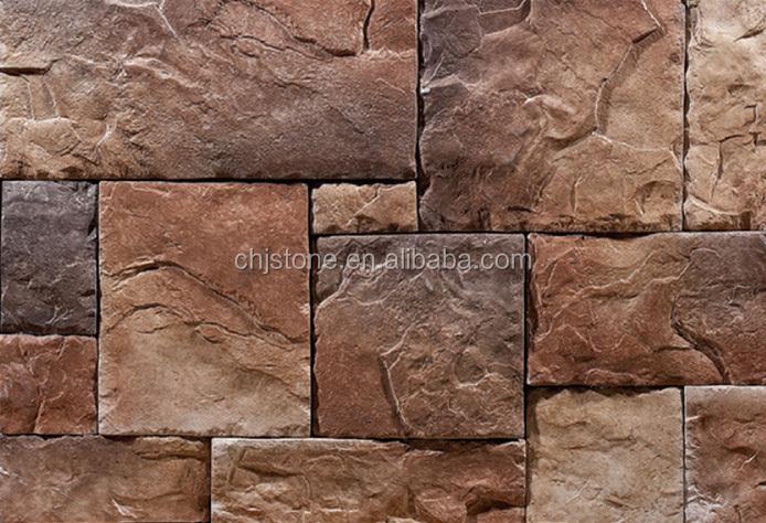 Venta caliente moldes de piedra artificial cultura cultura pizarra muros piedras para la pared - Moldes piedra artificial ...