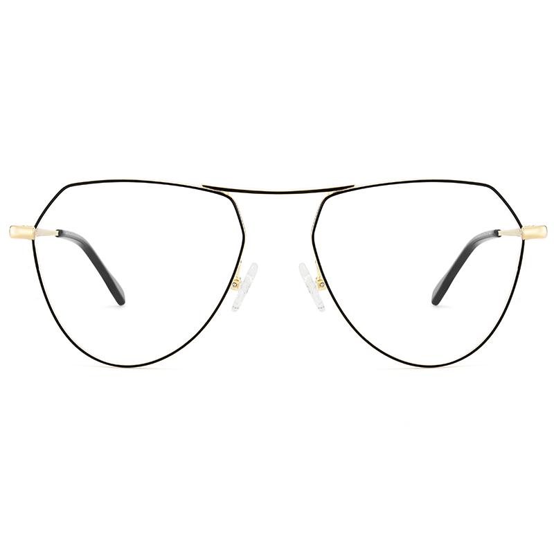 97128da7591 Unique designer irregular polygon metal glasses frames china eyeglasses  manufacturer