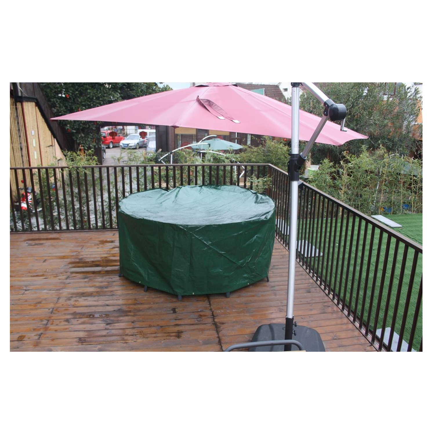 Sale of round outdoor high quality practical furniture table and chair cover