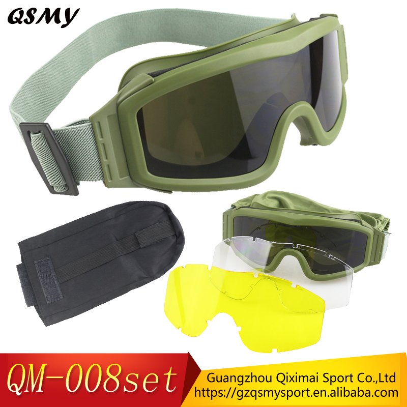 Fashionable anti fog anti-terrorism ballistic goggles military glasses tactical airsoft goggles