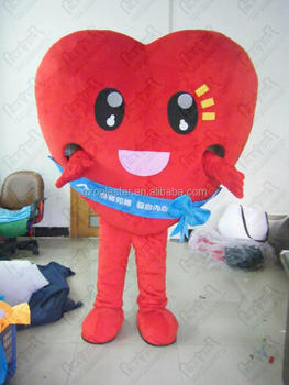 Saint Valentine's Day gifts mascot costumes red heart costumes