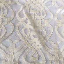 Fancy Tradition Design Of Nylon Cotton Lace Fabric Ready Goods