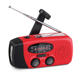 portable small hand crank solar charger flashlight emergency am/fm radio