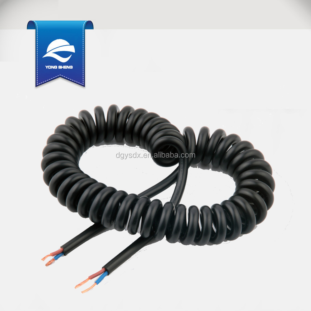 black truck cables coiled spring cable