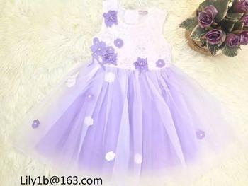 Stock dresses kids girls party dresses wholesale baby girls