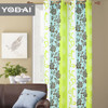 Flower Design Polyester Printed Fabric Curtain
