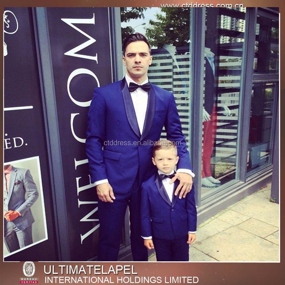 New Style Pure Wool Blue Tuxedo Wedding Suits for Men
