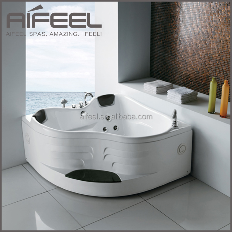 2015 China Supplier Indoor Acrylic Tub 2 Person Freestanding Massage ...