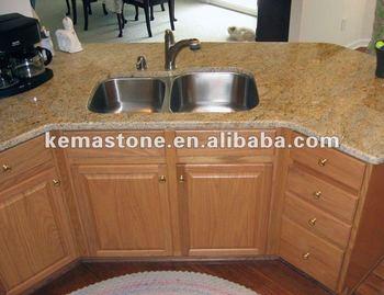 Prefabbricato Kashmir Oro Granito Top Cucina Tavolo - Buy Granite ...