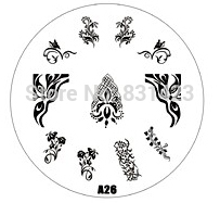 2015 new A Series A26 Nail Art Polish DIY Stamping Plates Image Templates Nail Stamp Stencil